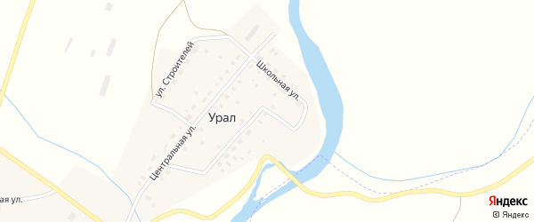 Речная улица на карте деревни Урала с номерами домов