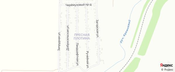 Ручейная улица на карте Магнитогорска с номерами домов