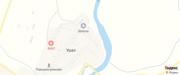 Школьная улица на карте деревни Урала с номерами домов