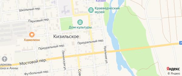 Колхозная улица на карте Кизильского села с номерами домов