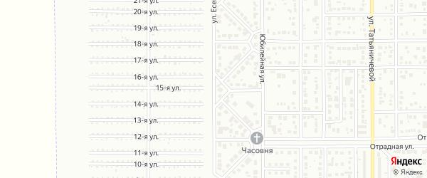 Улица Есенина на карте Магнитогорска с номерами домов