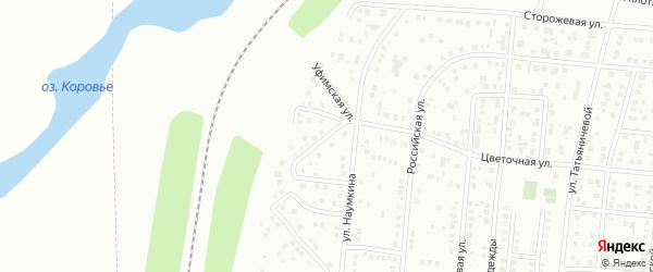 Уфимская улица на карте Магнитогорска с номерами домов