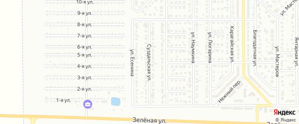 Суздальская улица на карте Магнитогорска с номерами домов