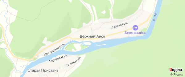 Карта деревни Верхнего Айска в Челябинской области с улицами и номерами домов