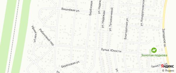 Березовая улица на карте Магнитогорска с номерами домов