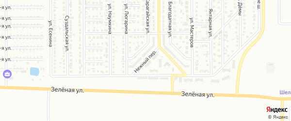 Нежный переулок на карте Магнитогорска с номерами домов