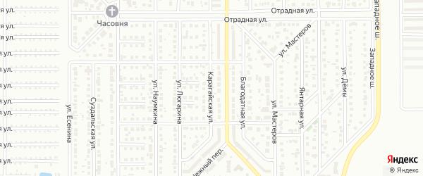 Карагайская улица на карте Магнитогорска с номерами домов