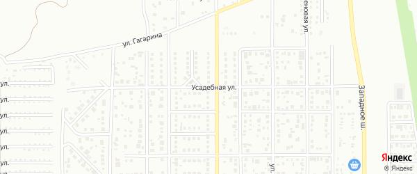 Усадебная улица на карте Магнитогорска с номерами домов