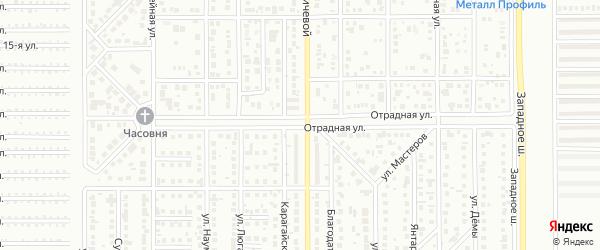 Отрадная улица на карте Магнитогорска с номерами домов