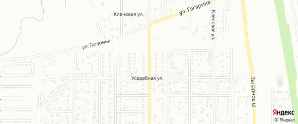 Улица Татьяничевой на карте Магнитогорска с номерами домов