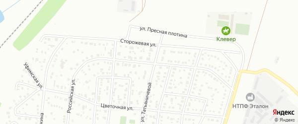 Российская улица на карте Магнитогорска с номерами домов