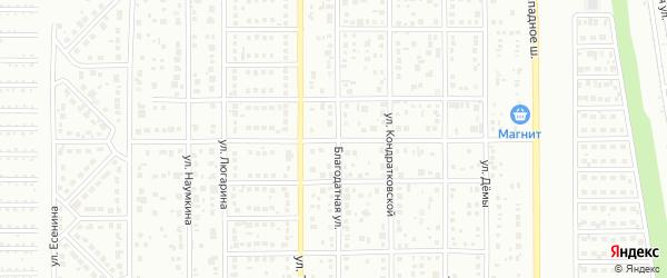 Светлая улица на карте Магнитогорска с номерами домов