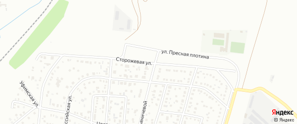 Сторожевая улица на карте Магнитогорска с номерами домов
