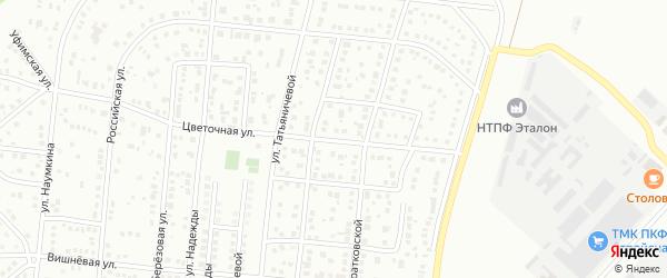 Цветочная улица на карте Магнитогорска с номерами домов