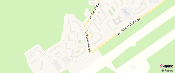 Российская улица на карте Сатки с номерами домов