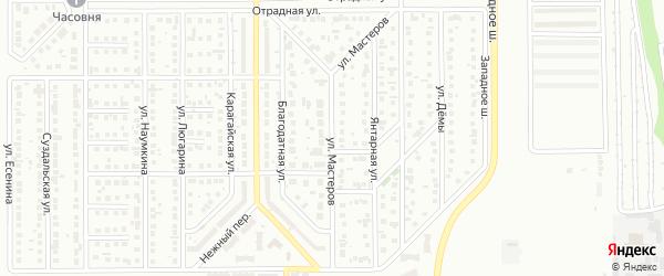 Улица Мастеров на карте Магнитогорска с номерами домов