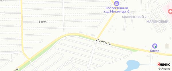 Дачное шоссе на карте Магнитогорска с номерами домов
