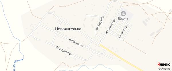 Центральная улица на карте поселка Новоянгельки с номерами домов