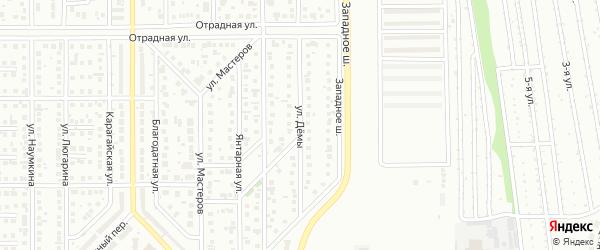 Улица Дёмы на карте Магнитогорска с номерами домов