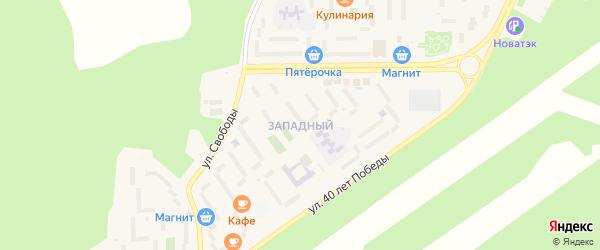 Западный микрорайон на карте Сатки с номерами домов