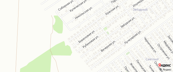 Бирюзовая улица на карте Магнитогорска с номерами домов
