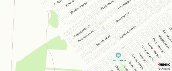 Рубиновая улица на карте Магнитогорска с номерами домов