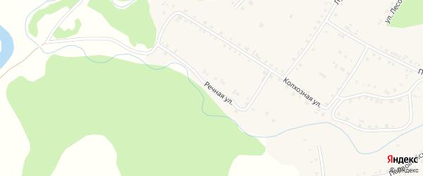 Речная улица на карте села Новобелокатая с номерами домов
