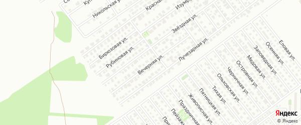 Вечерняя улица на карте Магнитогорска с номерами домов