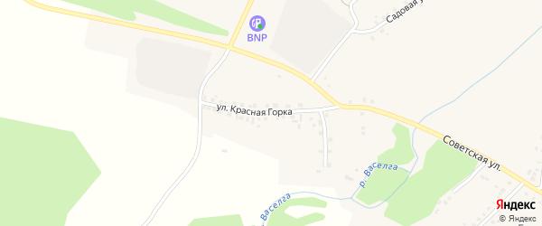 Улица Красная Горка на карте села Новобелокатая с номерами домов