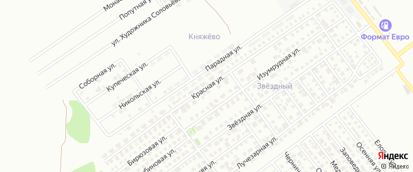 Красная улица на карте Магнитогорска с номерами домов