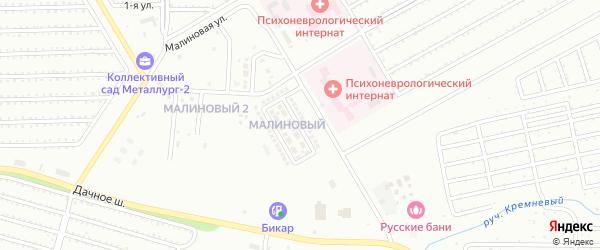 Улица Героя соцтруда Сергея Вавилова на карте Магнитогорска с номерами домов