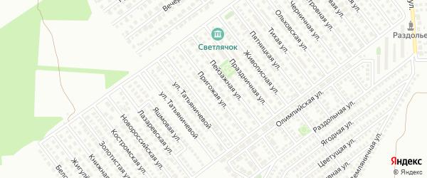 Пригожая улица на карте Магнитогорска с номерами домов