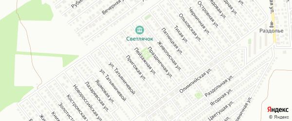 Пейзажная улица на карте Магнитогорска с номерами домов