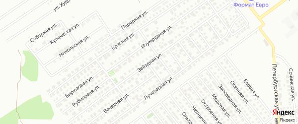 Звездная улица на карте Магнитогорска с номерами домов