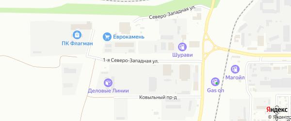 Северо-западная 1-я улица на карте Магнитогорска с номерами домов