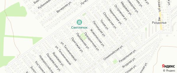 Праздничная улица на карте Магнитогорска с номерами домов