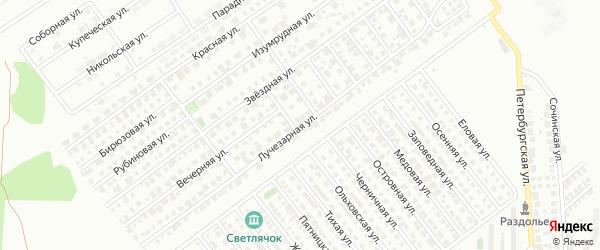 Лучезарная улица на карте Магнитогорска с номерами домов