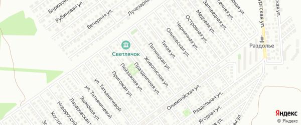 Живописная улица на карте Магнитогорска с номерами домов