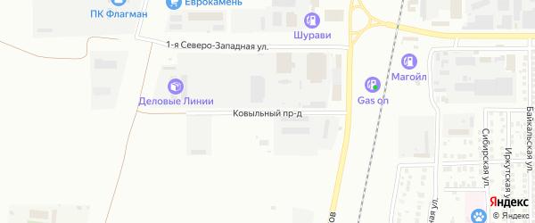 Ковыльный проезд на карте Магнитогорска с номерами домов