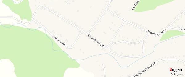 Колхозная улица на карте села Новобелокатая с номерами домов