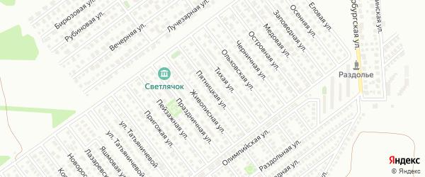 Пятницкая улица на карте Магнитогорска с номерами домов