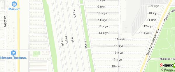Территория ГСК Дружба на карте Магнитогорска с номерами домов