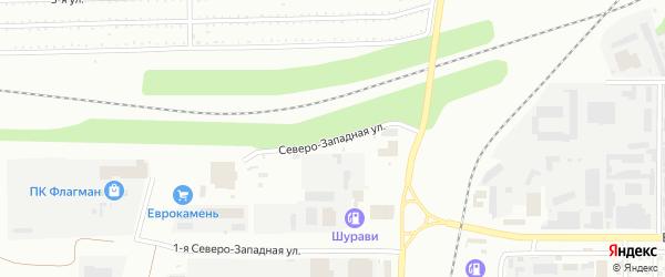 Северо-Западная улица на карте Магнитогорска с номерами домов