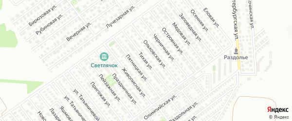 Тихая улица на карте Магнитогорска с номерами домов