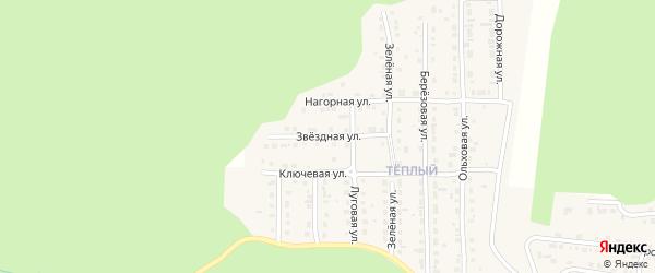Звездная улица на карте Сатки с номерами домов