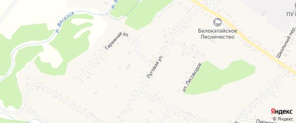 Гаражная улица на карте села Новобелокатая с номерами домов