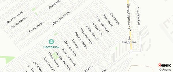 Черничная улица на карте Магнитогорска с номерами домов