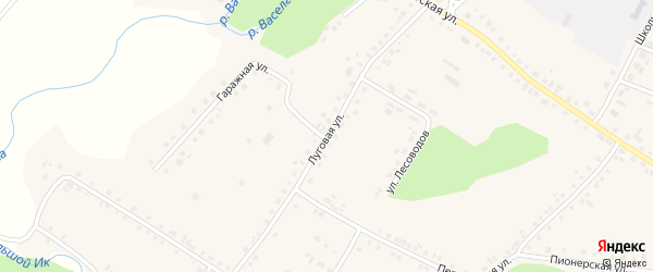 Луговая улица на карте села Новобелокатая с номерами домов