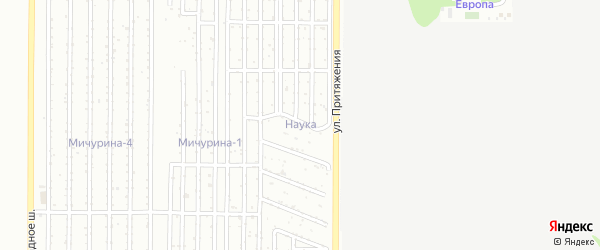 Территория ГСК Наука на карте Магнитогорска с номерами домов