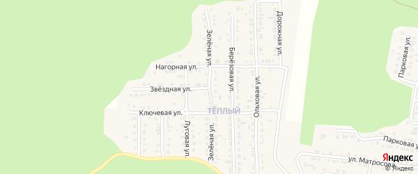 Зеленая улица на карте Сатки с номерами домов